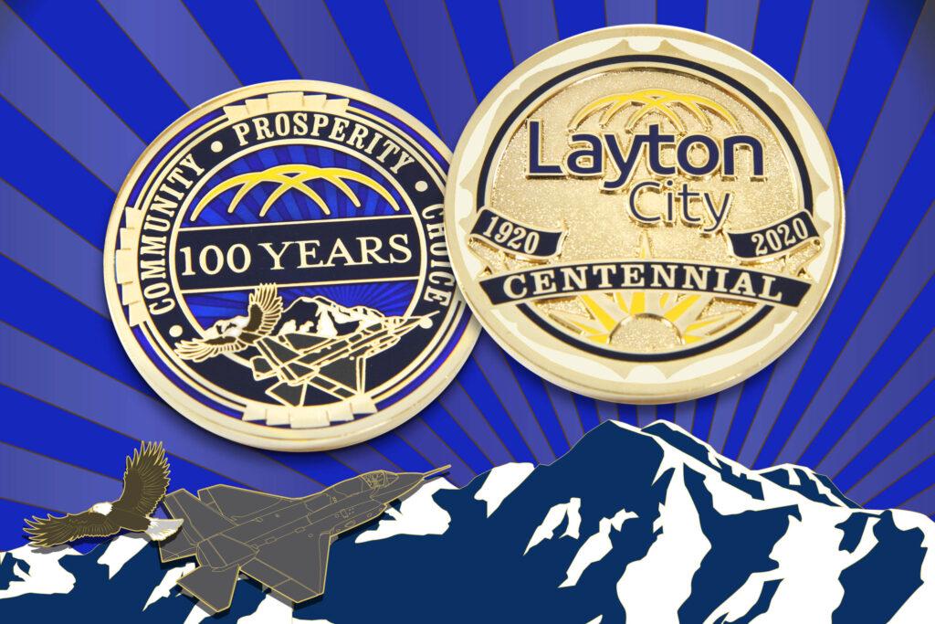 Layton City Challenge Coin for Centennial Celebration