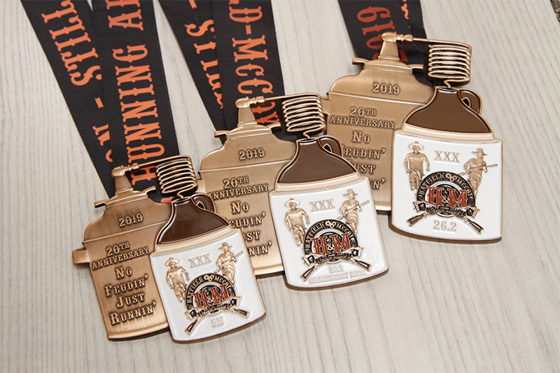 Hatfield and McCoy Moonshine Race Medals