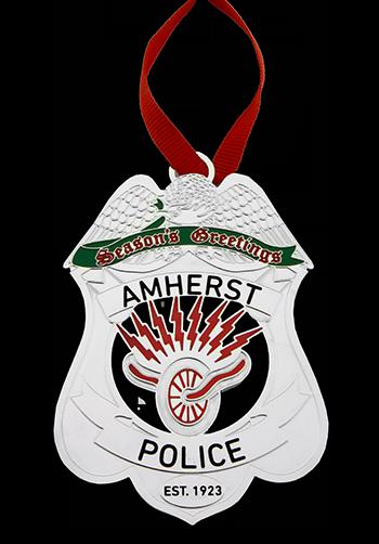 Police Badge Custom Christmas Ornament