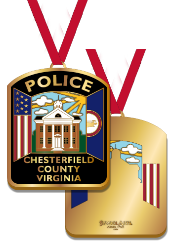 Police Stained Glass Ornament