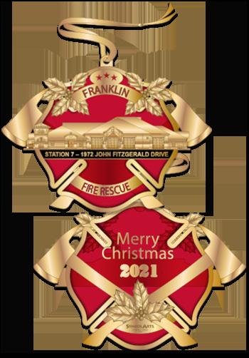 Translucent Enamel Fire Ornament