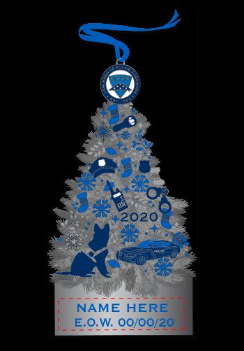 COPS Tree Christmas Ornament