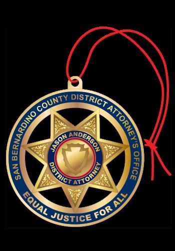 Star Badge Custom Christmas Ornament